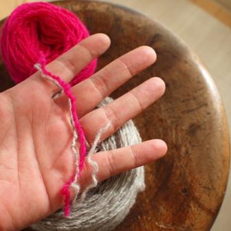 糸のアップ