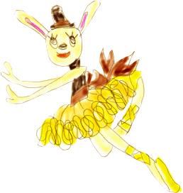 ウサギ黄色