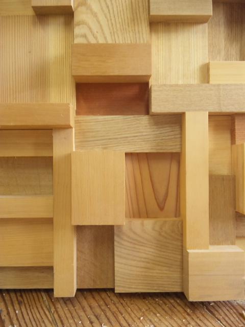 木工品 木のコラージュ アッサンブラージュ