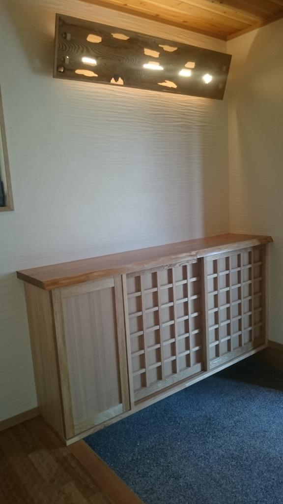 造作家具 木製扉の製作 下駄箱