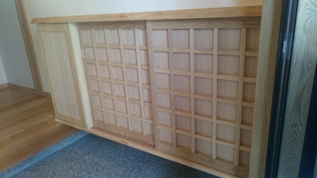 造作家具 木製扉製作 下駄箱
