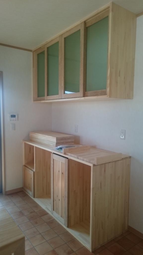 キッチン収納 木製扉