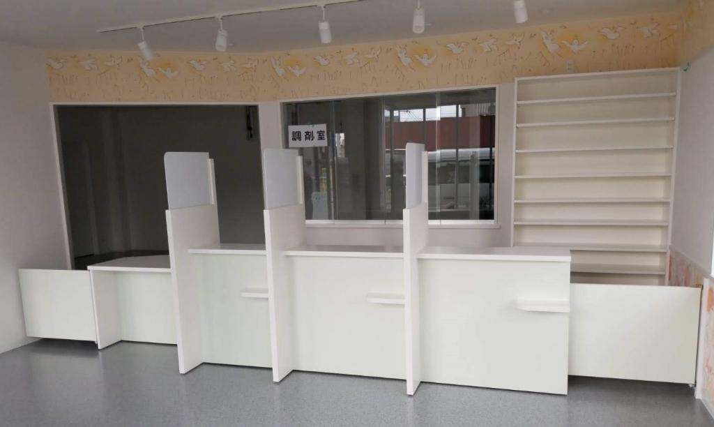 造作家具 店舗カウンター ホワイト系 株式会社山下建具店
