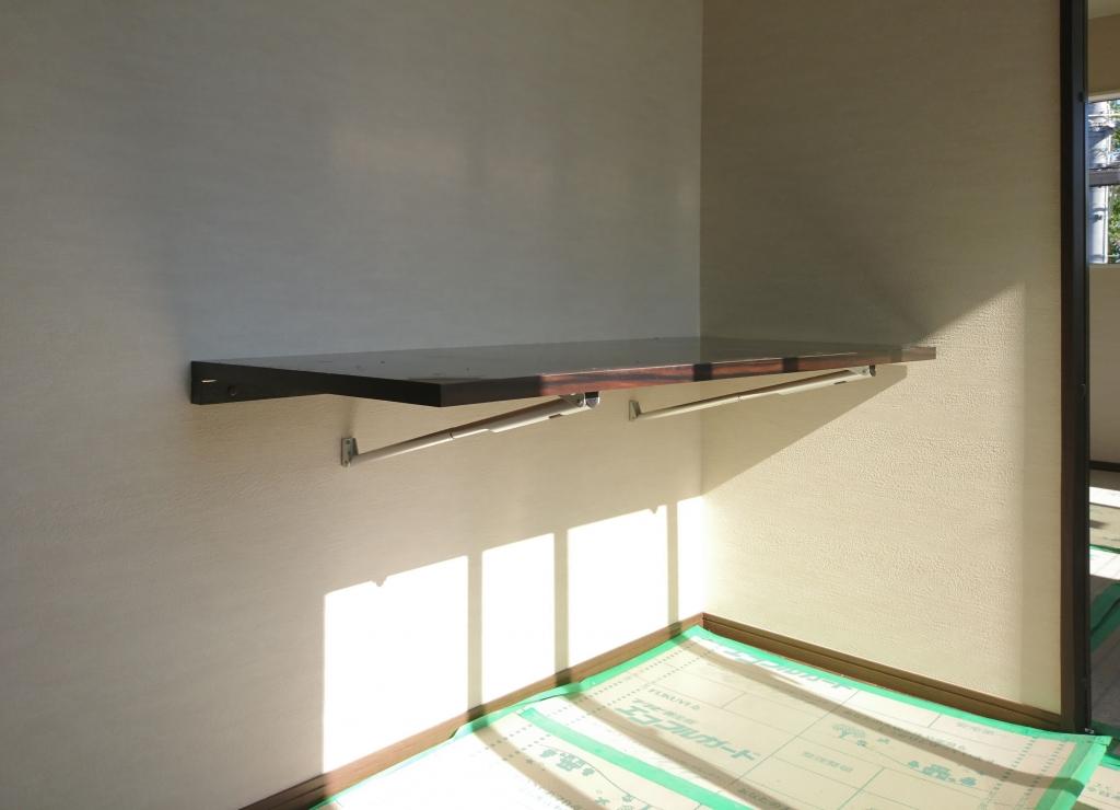造作家具 壁付け折りたたみ机 フォールディング・テーブル 株式会社山下建具店