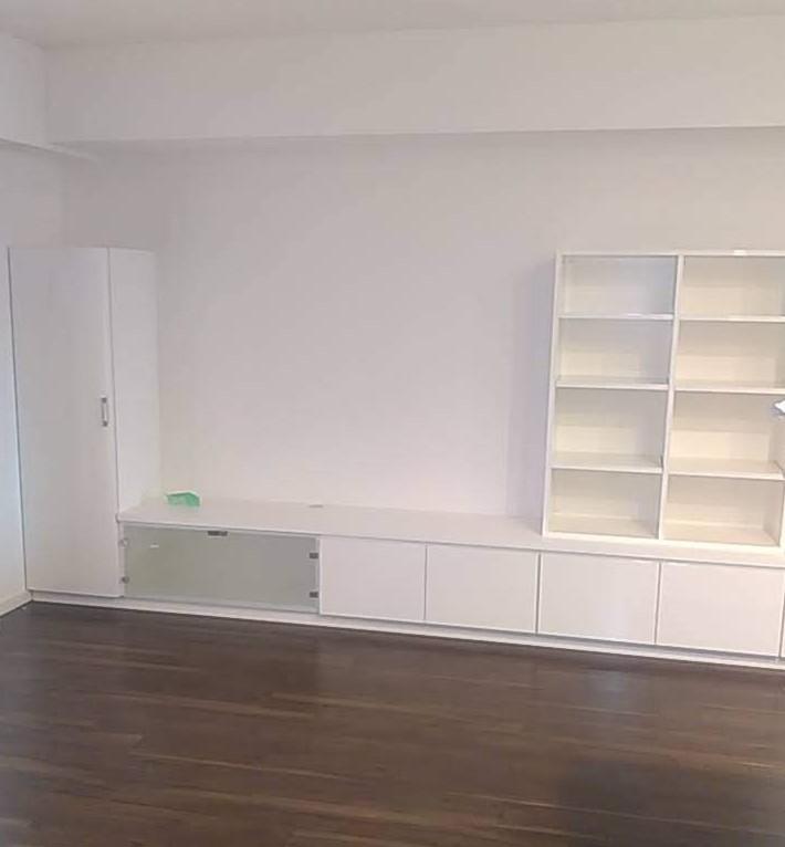 造作家具 テレビ台 リビング 収納ユニット家具 ホワイト系 株式会社山下建具店