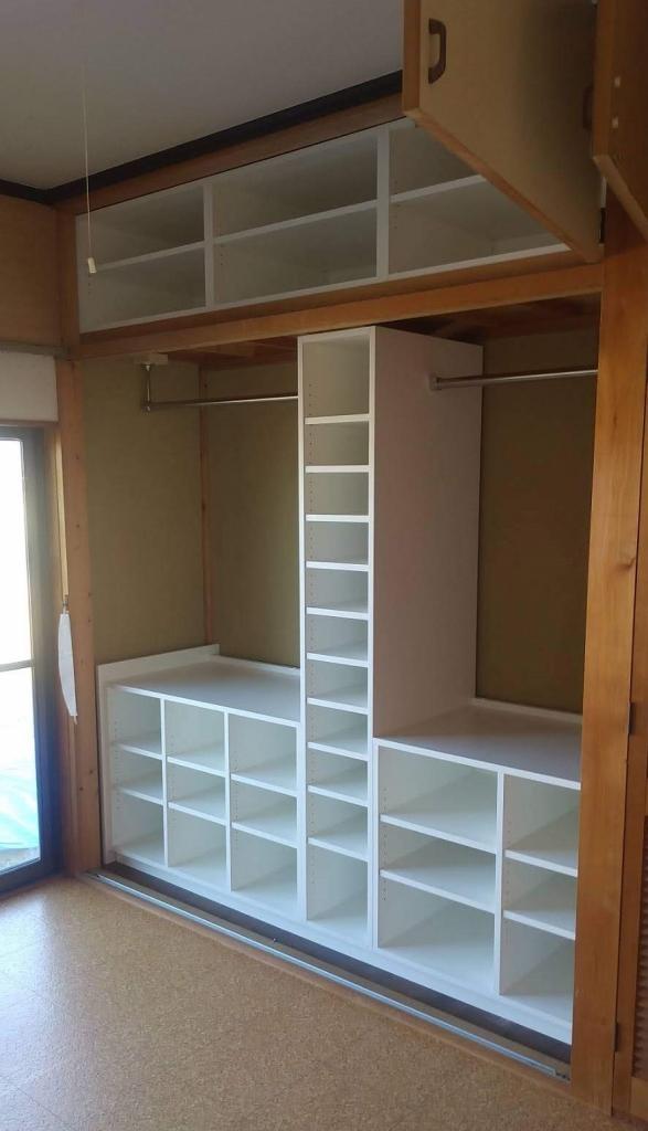 造作家具 クローゼット収納 リフォーム施工例 株式会社山下建具店