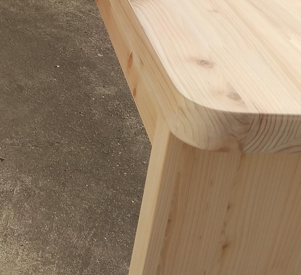 木製家具 カウンターテーブル 曲線デザイン NC加工 株式会社山下建具店