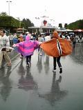 雨の中を走るバカ2人