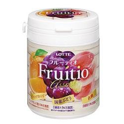 お菓子 画像 Fruitio LOTTE ボトルガム バレンシアオレンジ ぶどう 白桃