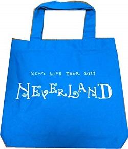 NEWS 画像 LIVE TOUR 2017 NEVERLAND 公式グッズ トートバッグ ブルー