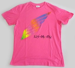 Kis-My-Ft2 画像 Tシャツ ピンク concert tour 2014 Kis-My-Journey 公式グッズ 美品