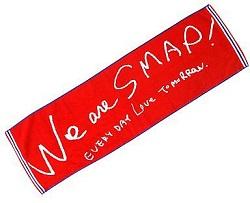 SMAP 画像 2010 CONCERT We are SMAP 公式グッズ バスタオル 美品