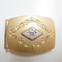 金製品 画像 バックル K18 Pt ダイヤモンド