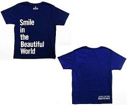 嵐 画像 LIVE TOUR Beautiful World 公式グッズ Tシャツ ネイビー 美品