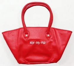 Kis-My-Ft2 画像 トートバッグ 赤 キスマイショップ限定 未使用品