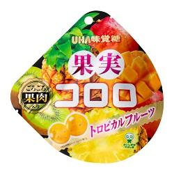 お菓子 画像 果実コロロ トロピカルフルーツ UHA味覚糖 ごろごろ果肉入り