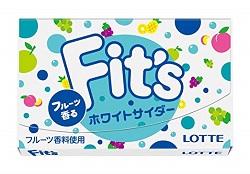 お菓子 画像 Fits フィッツ ホワイトサイダー LOTTE フルーツ香料使用