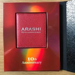嵐 画像 10th Anniversary ファンクラブ限定 記念品 フォトケース レッド 未使用品