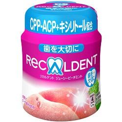 お菓子 画像 RECALDET ジューシーピーチミント モンデリーズ・ジャパン CPP+ACP+キシリトール配合 2粒あたり4Kcal