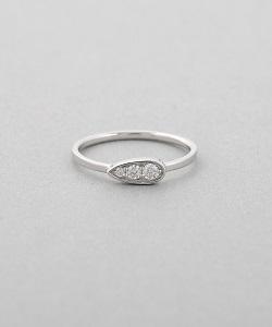 金製品 画像 K18WG 18金ホワイトゴールド リング 指輪 ダイヤ ドロップモチーフ