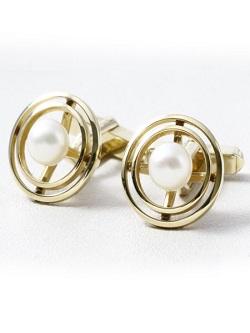 金製品 画像 K14 14金 カフス 真珠付き