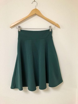 古着 画像 フレアスカート 緑 MIRACLE CLOSET  Lサイズ レディース 美品