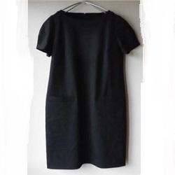 古着 画像 半袖ワンピース 黒 UNIQLO Lサイズ レディース 美品