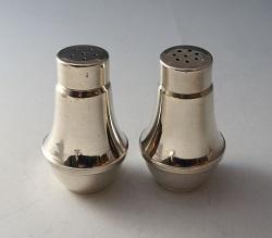 銀製品 画像 ソルト&ペッパー入れ スターリングシルバー 1940年代