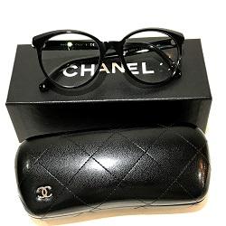 シャネル 画像 メガネ 眼鏡 黒 プラスチック 遠近両用度あり ケース 箱