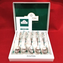 銀製品 画像 スプーン5本セット MINTON ミントン イギリス 箱入り