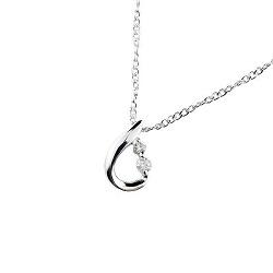 プラチナ製品 画像 Pt900 ネックレス ティアドロップ ダイヤモンド