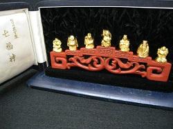 金製品 画像 K24 24金 純金製 七福神 金工芸品