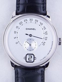 シャネル 画像 腕時計 ムッシュー・ドゥ・シャネル 18KWG アリゲーターストラップ