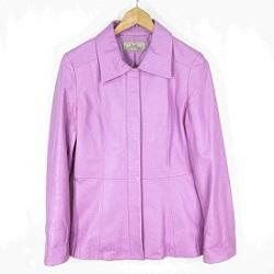 古着 画像 ジャケット 薄紫 noa-ge ノアジェ Lサイズ レディース 美品