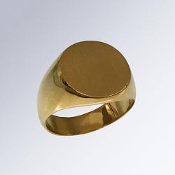 金製品 画像 K24  24金 5匁リング 丸印台 鍛造