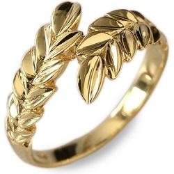 金製品 画像 K18 18金 リング 指輪 ハワイアンジュエリー マイレ