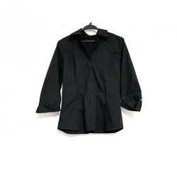 古着 画像 七分袖シャツ 黒 23区 Mサイズ 美品