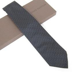 ルイヴィトン 画像 ネクタイ ダークグレイ シルク100% メンズ