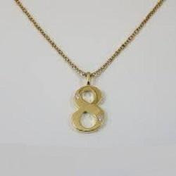 金製品 画像 K18 18金 ペンダント 数字8 ダイヤ