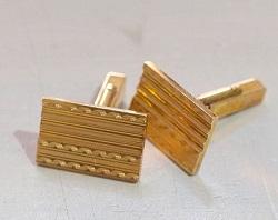 金製品 画像 K18 18金 カフスボタン