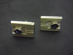 プラチナ製品 画像 Pt900 カフスボタン 石 カフリンクス