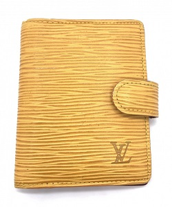 ルイヴィトン 画像 カードケース エピ イエロー パープル アジェンダミニ