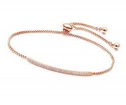 金製品 画像 K14PG 14金ピンクゴールド ブレスレット ダイヤモンド