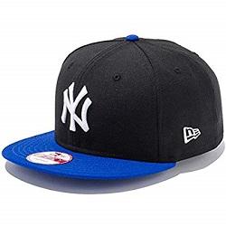 帽子 画像 NEW ERA キャップ 黒 青 NY 9FIFTY 未使用品
