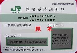 株主優待 画像 JR東日本 2021.5.31