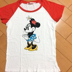 古着 画像 Tシャツ 白 ラグラン ミニーマウス UNIQLO Mサイズ 美品