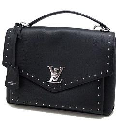 ルイヴィトン 画像 ハンドバッグ 黒 グレイんカーフ マイロックミー スタッズ