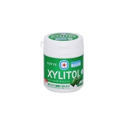 ボトルガム 画像 XYLITOL LOTTE ライムミント 143g 消費者庁許可 保健機能食品 特定機能性食品 シュガーレス
