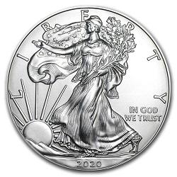 銀製品 画像 イーグル銀貨 1オンス アメリカ 2020