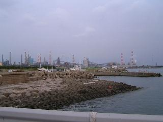 0608海釣り東電取水口前風景